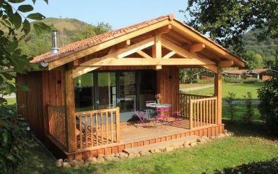 Hébergement éco-cabane au camping Narbaitz au Pays Basque